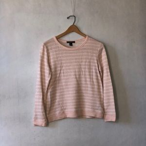 Baby Pink Thick Striped Sweater